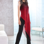 Ombre jumpsuit red