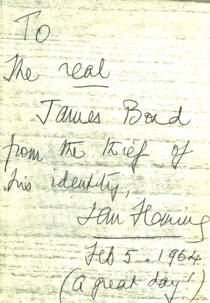 Book Inscribed By Fleming